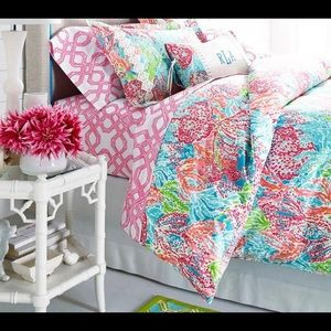 Lilly Pulitzer for Garnet Hill Duvet Cover Twin